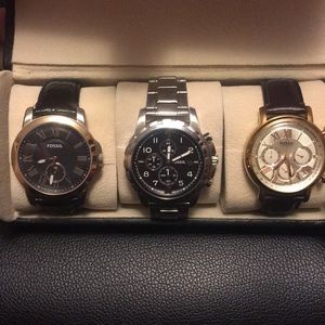 Set of 3 fossil watches